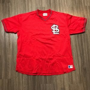Vintage St Louis Cardinals Jersey Red Mesh